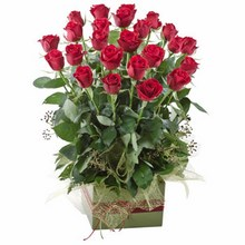 Box Arrangement of 24 Long Stemmed Red Roses