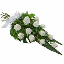 Sheaf of 12 Long Stemmed White Roses