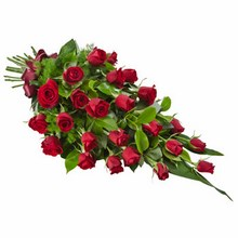 Sheaf of 24 Long Stemmed Red Roses