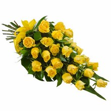 Sheaf of 24 Long Stemmed Yellow Roses
