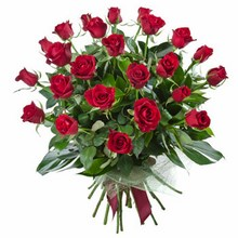 Bouquet of 24 Long Stemmed Red Roses