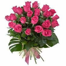 Bouquet of 24 Long Stemmed Pink Roses