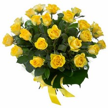 Bouquet of 24 Long Stemmed Yellow Roses