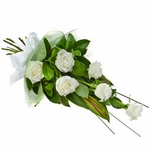 Bouquet of 6 Long Stemmed White Roses