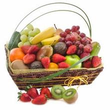Basket of Mixed Seasonal Fruit