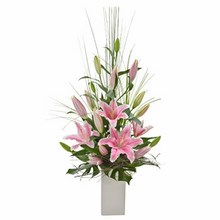 Elegant Arrangement of Oriental Liles Suitable for Home